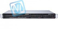 "Платформа Supermicro 1U SYS-6019P-MTR, Два процессора Intel Xeon Scalable, DDR4, 4x3,5"" HDD SATA, 2x1000Base-T"