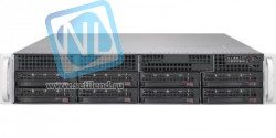 "Платформа Supermicro 2U SYS-6029P-WTR, Два процессора Intel Xeon Scalable, DDR4, 8x3,5"" HDD SATA, 2x1000Base-T"