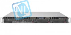 Сервер Supermicro SuperServer 5019S-MR, 1 процессор Intel Quad-Core E3-1220v5 3GHz, 8GB DDR4