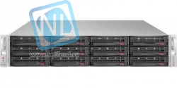 Сервер Supermicro SuperStorage 6028R-E1CR12T, 1 процессор Intel 8C E5-2609v4 1.70GHz, 16GB DRAM