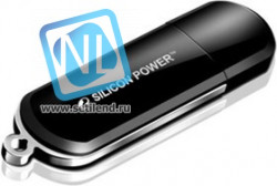 Флешка USB SILICON POWER LuxMini 322 8Гб, USB2.0, черный [sp008gbuf2322v1k]