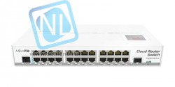 Коммутатор Cloud Router Switch Mikrotik 125-24G-1S-IN (RouterOS L5), настольный форм-фактор