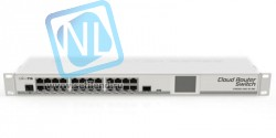 Коммутатор Cloud Router Switch Mikrotik 125-24G-1S-RM (RouterOS L5), 1U форм-фактор