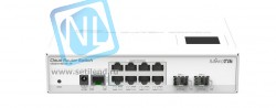 Коммутатор Cloud Router Switch Mikrotik CRS210-8G-2S+IN (RouterOS L5)