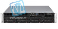 Сервер Supermicro SC825TQ-R740LPB(X9DR3-LN4F+), 2 процессора Intel Xeon 8C E5-2650 2.00GHz, 48GB DRAM