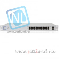 Коммутатор Ubiquiti UniFi Switch PoE 24 порта 500W